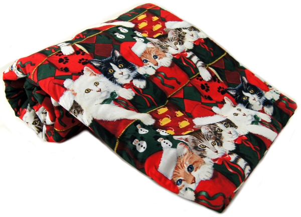 Christmas Stocking Kitty Pet Blanke