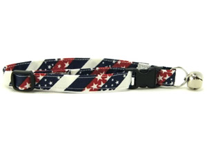 Red, White & Blue Chevrons Cat Collars